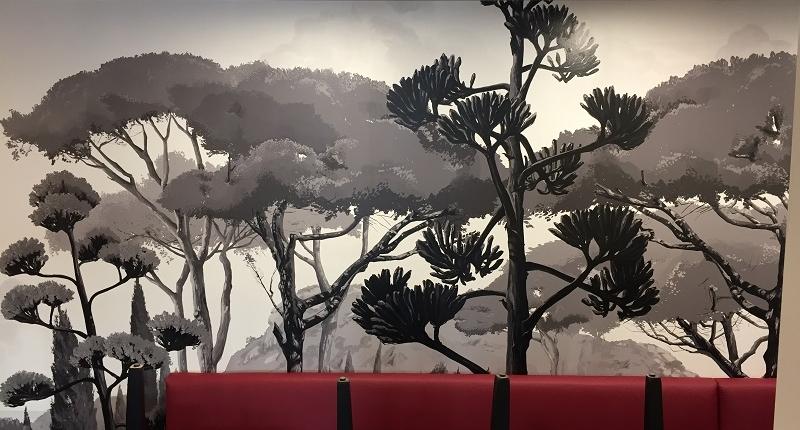 Pose papier peint panoramique restaurant